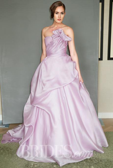 Pink wedding dress by Sareh Nouri. Brides.com
