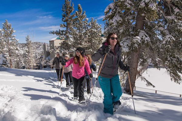 Try an invigorating snowshoe hike in the mountains. Photo Credit: The Ridge Tahoe