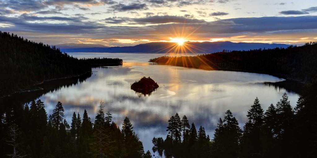 Sunrise overlooking Emerald Bay.