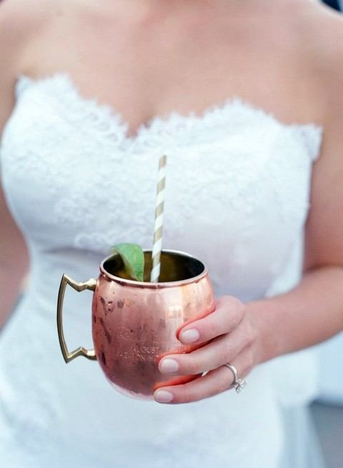 Copper Moscow mule mug. HappyWedd.com
