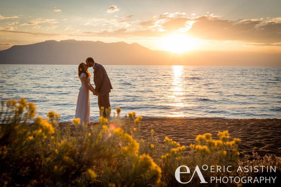 A beautiful fall wedding on the beach at Edgewood Tahoe. Photo Credit: Eric Asistin Photography