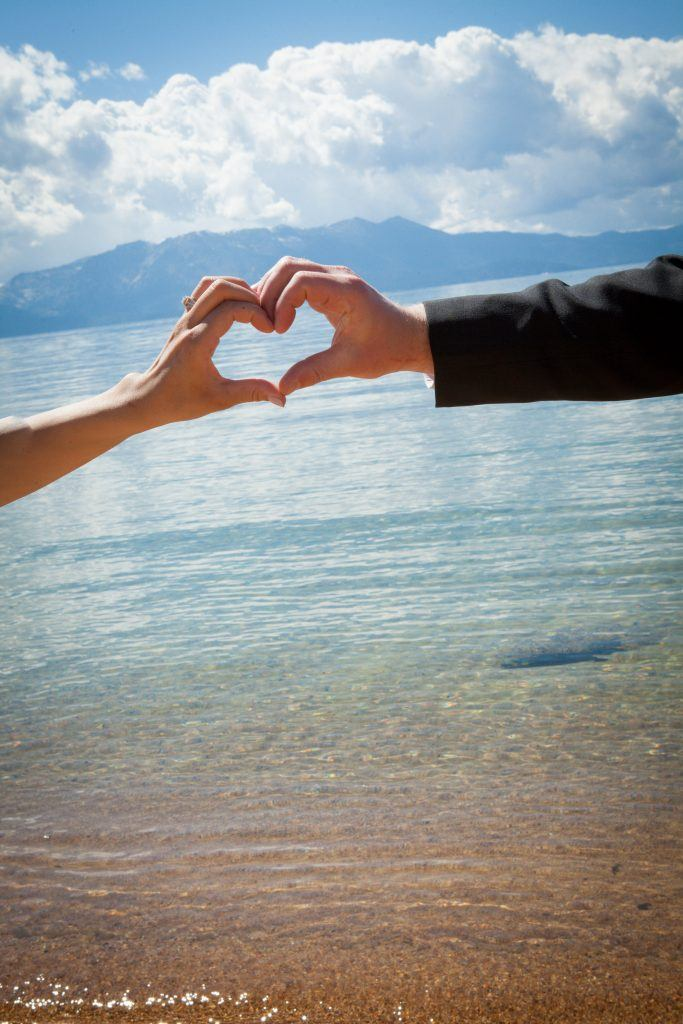 Lake Tahoe is one of the most picturesque wedding destinations. Photo Credit: Hall Creations Photography