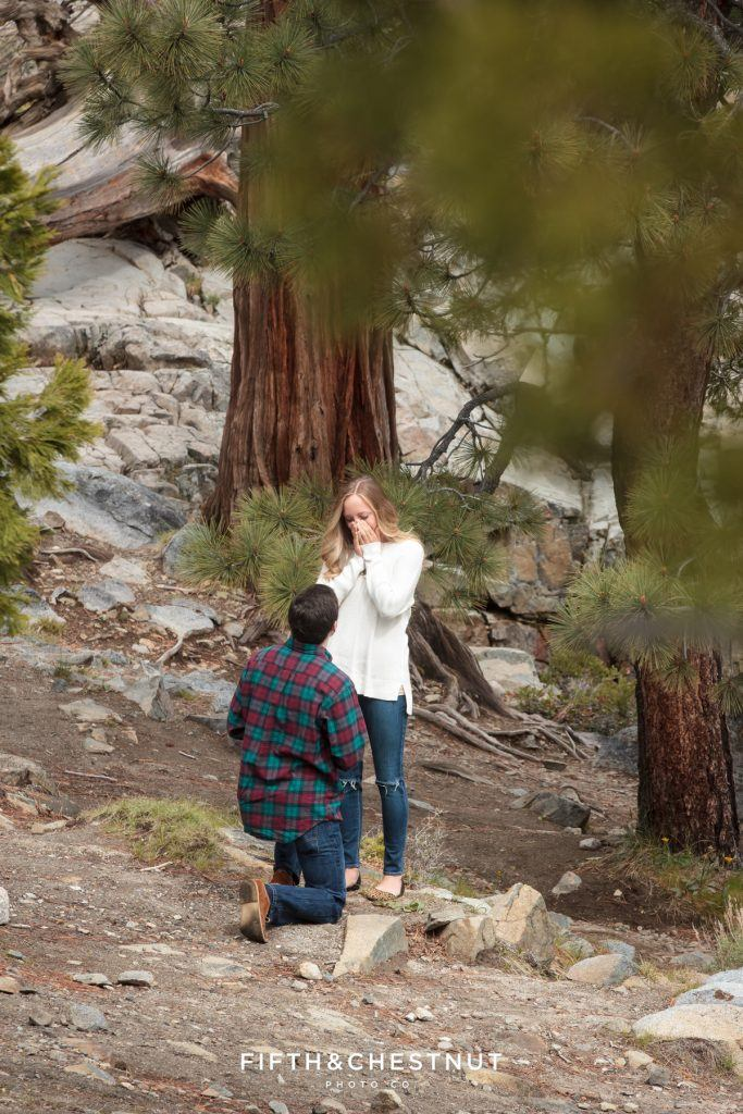 If you like the great outdoors, Tahoe is a beautiful setting for a wedding proposal. Photo Credit: Fifth & Chestnut