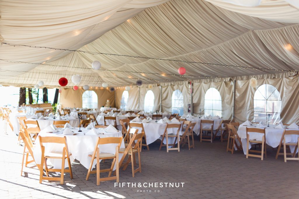 Host your wedding reception under a romantic tent on the beach at Zephyr Cove Resort. Photo Credit: Fifth & Chestnut | Zephyr Cove Resort