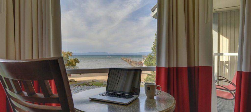 partial lake view room at beach retreat tahoe