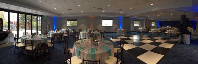 indoor wedding set up