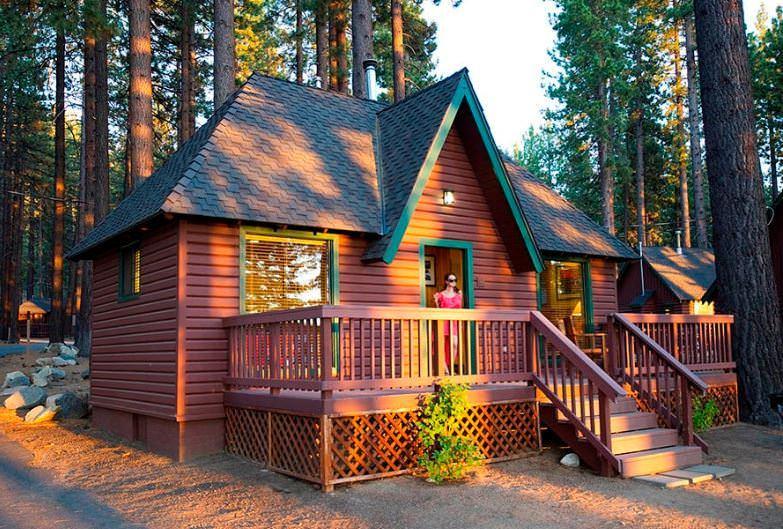 rustic cabin in lake tahoe
