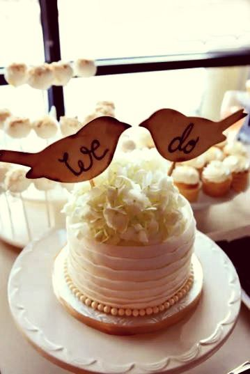 birdies rustic wedding cake toppers