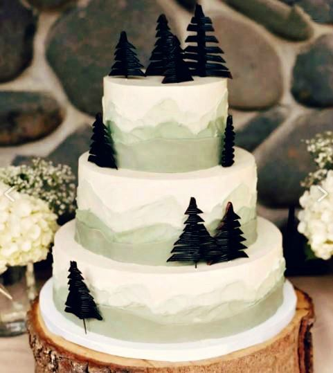 chocolate trees wedding cake toppers