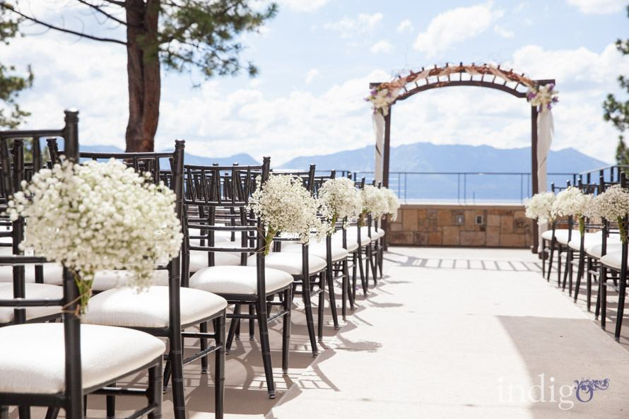 outdoor wedding at lake tahoe