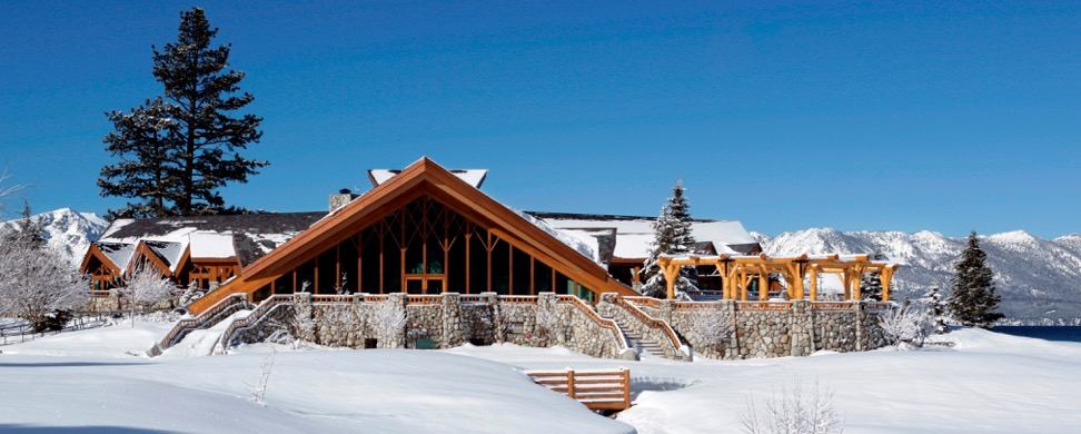 edgewood tahoe clubhouse in winter