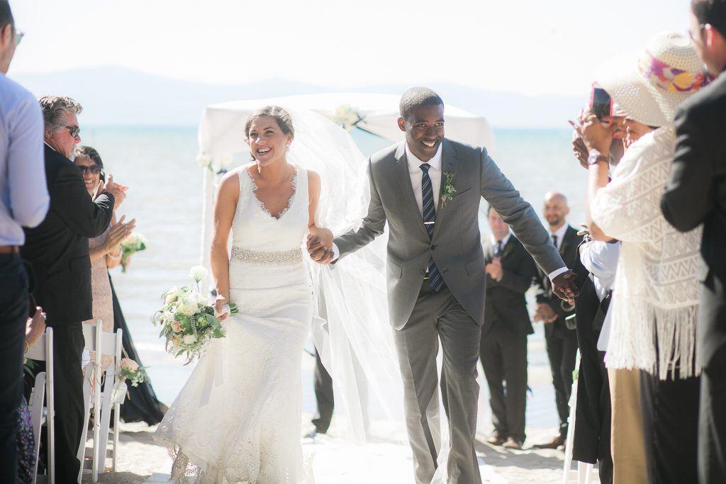 interracial couple beach wedding