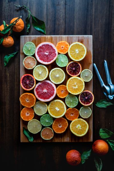 assorted colorful orange slices