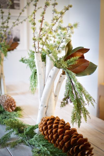 table setting of aspen and pine