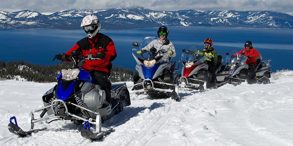 snowmobiling at Zephyr Cove Lake Tahoe