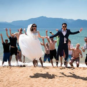 wedding in tahoe celebration