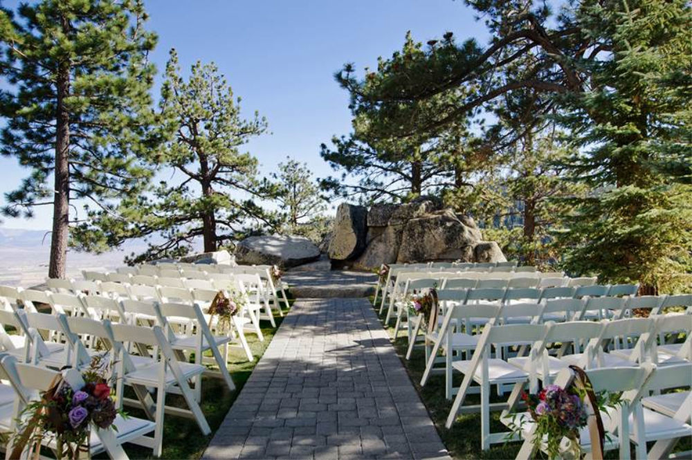 garden wedding at the ridge tahoe