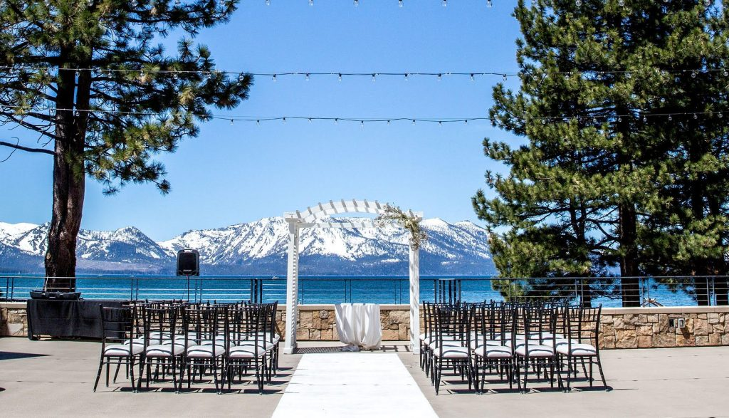 winter wedding at lake tahoe