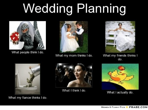 what i do wedding planning meme