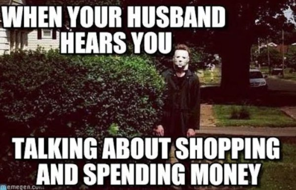 spending money marriage meme